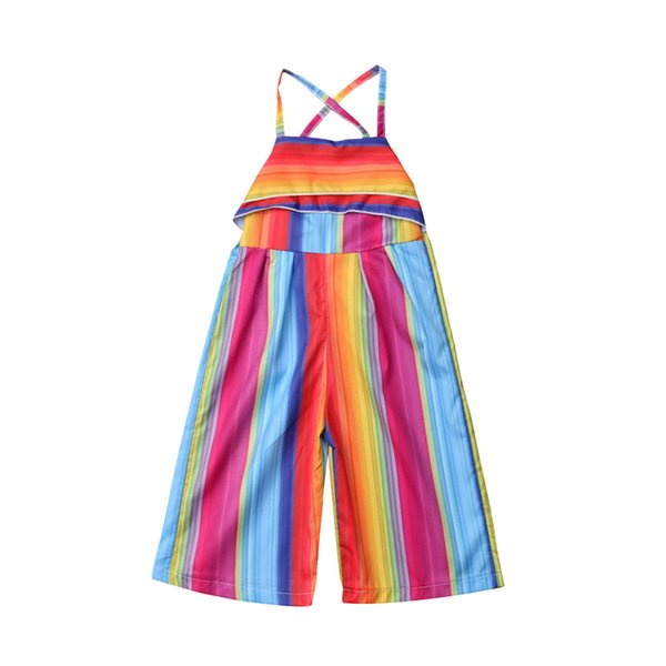 UK Newborn Baby Girl Romper Rainbow Bodysuit Sunsuit Summer Clothes Outfits 1-6Y