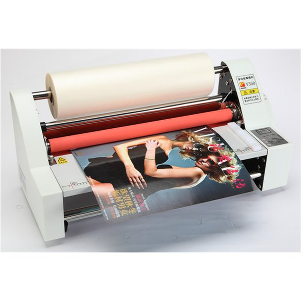 best selling New Model High Speed Thin Film Roller 180W Laminator Cold Semi Automatic Laminating Machine For Paper