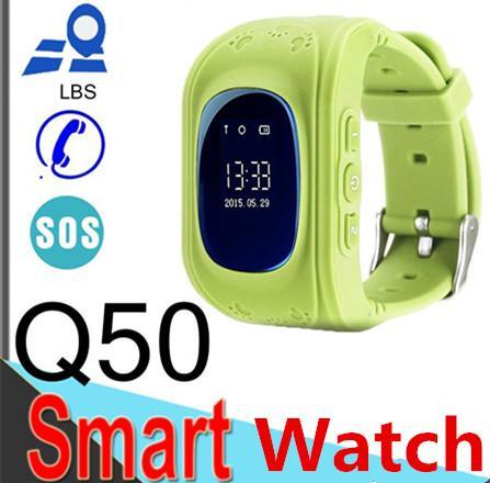 Q50 LCD LBS posizione bambini intelligenti orologio anti-separtion bambini orologio tracker bambini sicurezza orologio SOS bambini anti perso per IOS telefono Android