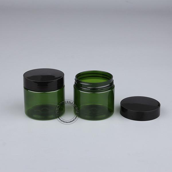 Frete Grátis 30 pcs 50g Frascos de Plástico Vazio Com Tampa Cosméticos Embalagens Maquiagem Garrafas Pote Para Máscara Facial Creme Para As Mãos Recipientes