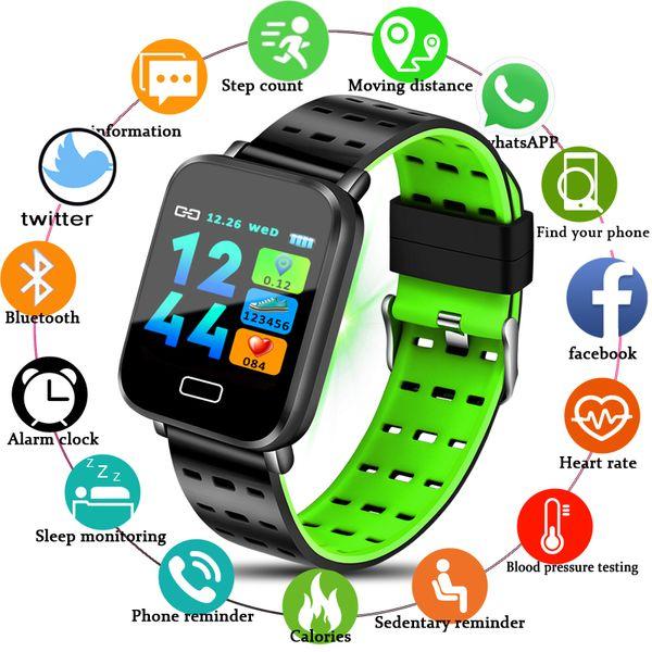 Novo Relógio Inteligente Das Mulheres Dos Homens Monitor de Freqüência Cardíaca Atividade Esporte Rastreador de Fitness À Prova D 'Água Pulseira Pedômetro Relógio para iOS Android
