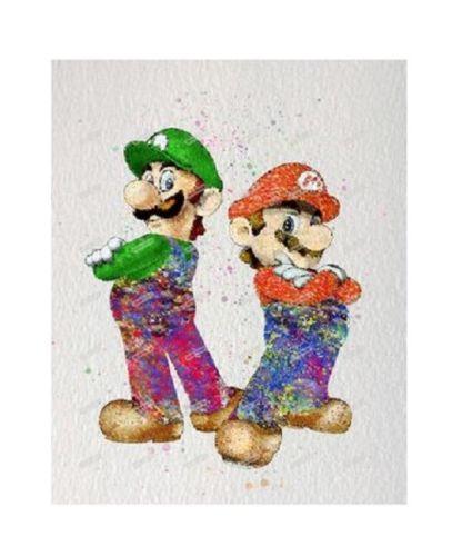 Полный дрель DIY 5D Алмаз живопись Марио и Луиджи мультфильм классический характер домашнего декора ручной работы #A1