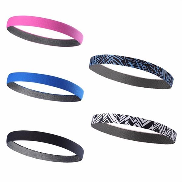 Outdoor Sports Headband Fitness Sweat-Absorbent Non-slip Bamboo Charcoal Fiber Hair Band Sweatband for Running Yoga Soccer #270834