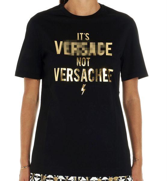 De lujo para hombre de diseñador de las mujeres camisetas Marca Tees reflectante de oro impresión de la letra V suéter de manga corta moda de gama alta blusas Delgado B101039L