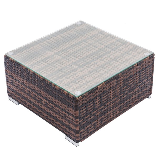 Awe Inspiring 2019 Outdoor Square Wicker Side Table Coffee Table With Glass Top Square Equipped Weaving Rattan Sofa Brown Gradient Coffee Table Usa From Ship From Machost Co Dining Chair Design Ideas Machostcouk