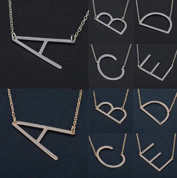 26 Cartas Collar Inicial de Plata Color Oro Collar de Discos A-Z Alfabeto Mujeres Kolye Collier Amigos Carta Familiar Collar Joyería