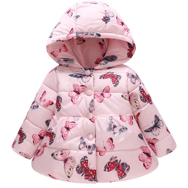 Großhandel 2018 Neue Mode Neugeborenes Baby Mädchen Jungen Kleidung Kinder Winter Baumwolle Warm Weich Langarm Schmetterling Print Outfits Clothing