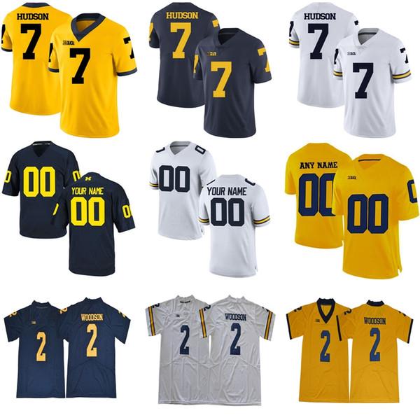 Benutzerdefinierte 2017 Michigan Wolverines Limited weiß Marineblau Gold personalisiert genäht beliebiger Name Nummer 2 3 4 5 10 College Football Trikots S-6XL