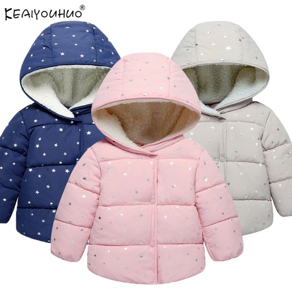 KEAIYOUHUO Winter Girls Coats Kids Outerwear Clothes 2018 New Children Clothing Girls Jacket Coat Cotton Warm Jackets For Girls
