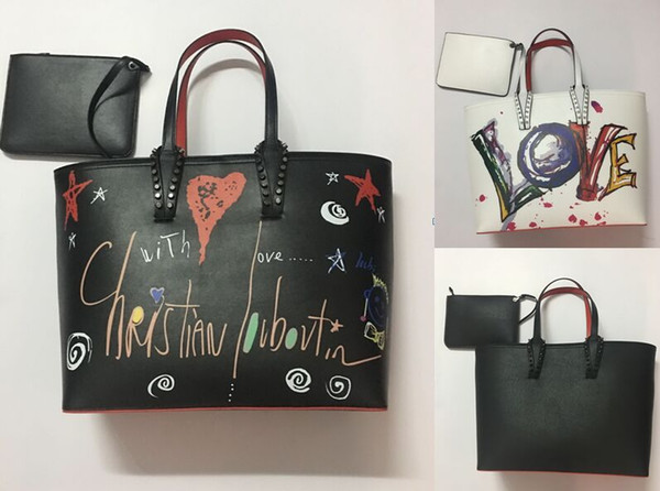 Fashion Women Shoulder Bag Genuine Leather Rivets Spikes Bow Crossbody Bags Tote Bag Designer Handbags Shopping Bag