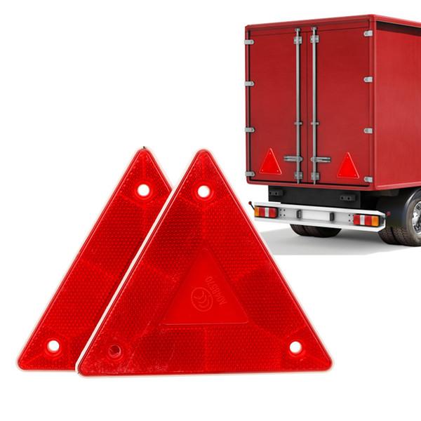 Coche triángulo de advertencia Reflector Detener la señal de peligro reflectante de seguridad Tarjeta de la muestra del camión Placa Roja luz trasera