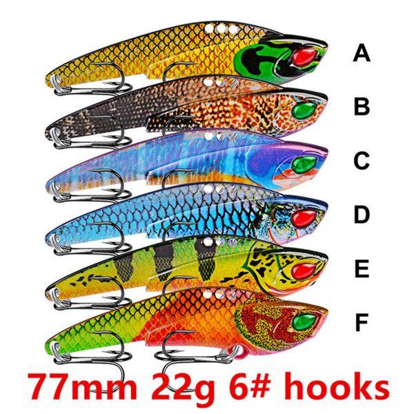 77mm 22g 6# hooks