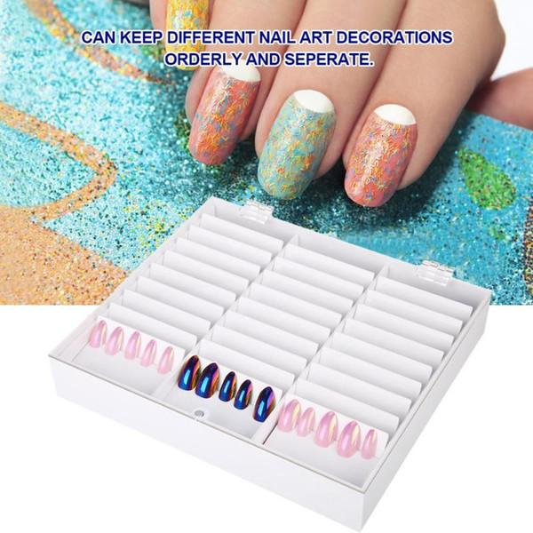 33 Grids Nail Art Storage Manicure Decoration Rhinestone Gem Bead Container False Nail Display Holder Manicure Tools Storage Box