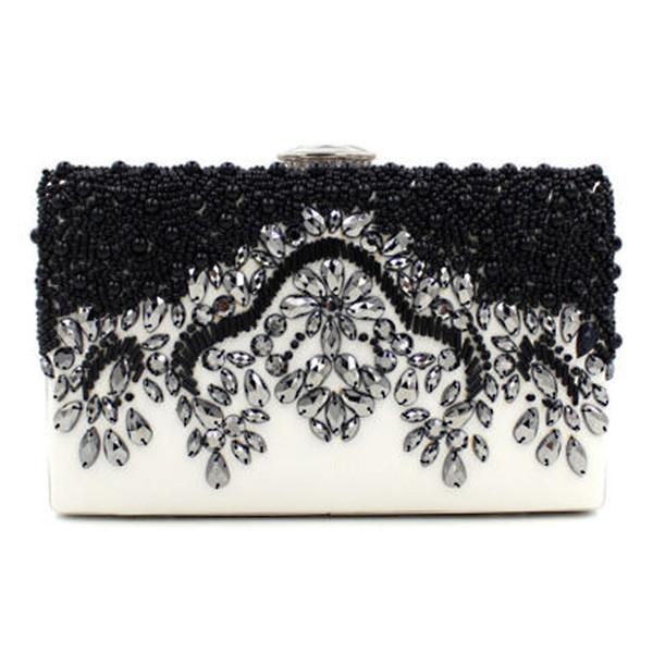 Crystal Wedding Rhinestone Prom Evening Bag Beaded Party Purse Handbag Clutch