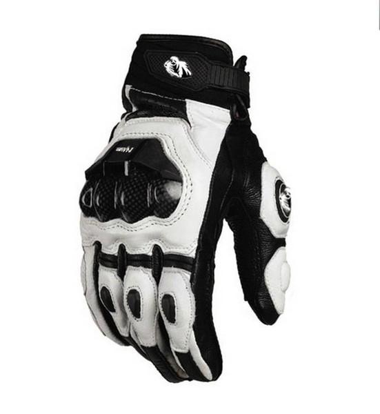 Modelli 2015 Francia Furygan AFS 6 10 top racing guanti da moto guanti in pelle con fibra di carbonio nero / bianco taglia M L XL