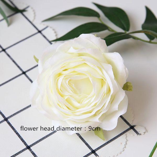 9cm tête de fleur rose