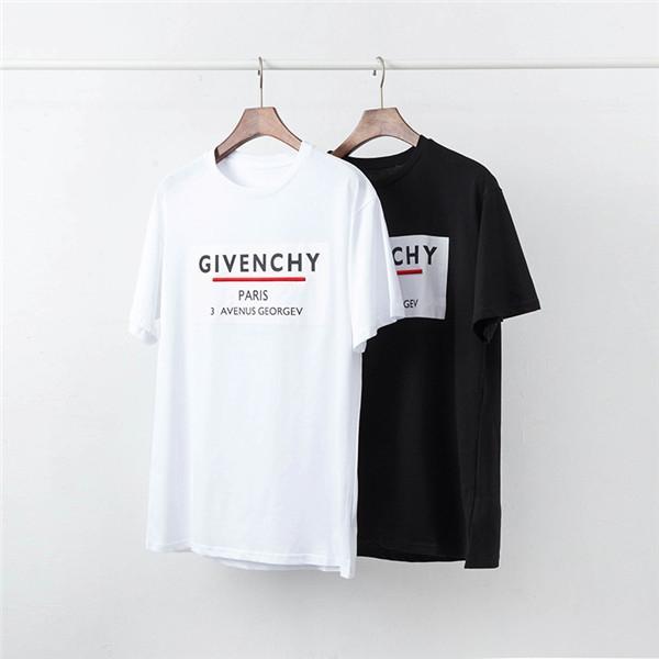 T-shirt design imprimé marque grand T-shirt de style respirant tendance de la mode en coton taille des hommes 19SS