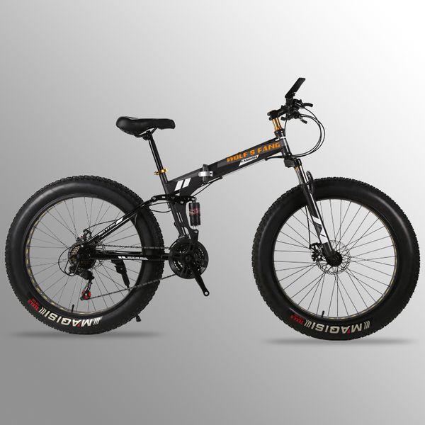 bicicleta dobrável bicicleta mountain bike 26 polegadas 21/24 velocidade 26x4.0