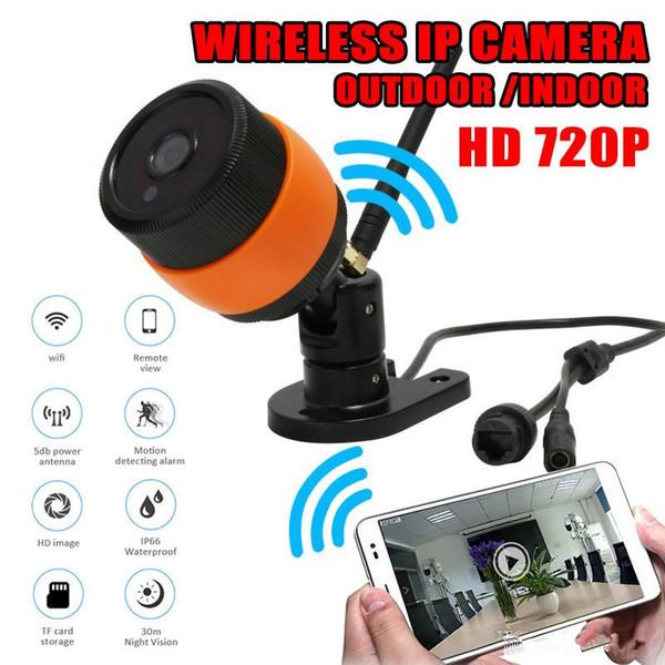 Su geçirmez Kapalı Açık Kablosuz WiFi IP Kamera Gece Görüş ile 720 P Kameralar Hareket Algılama Alarm Monitör perakende kutusu ile