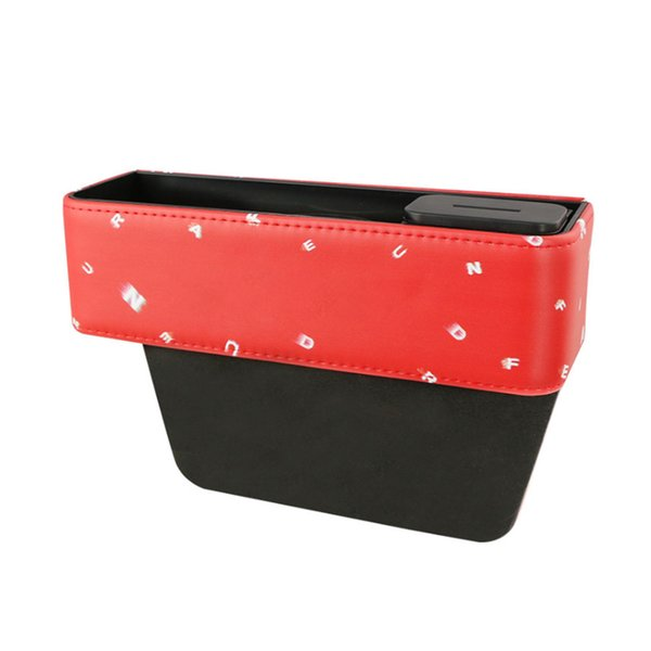 Leather Car Seat Organizer Car Storage Box Organizer Seat Slit Storage Glove Box Slot Car-Styling