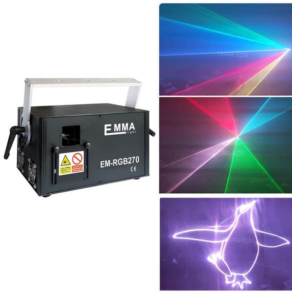 Vollfarb-Laserlicht-Showprojektor. 5000mW RGB-Laser-Display-System DMX SD-Karte Ilda 5W