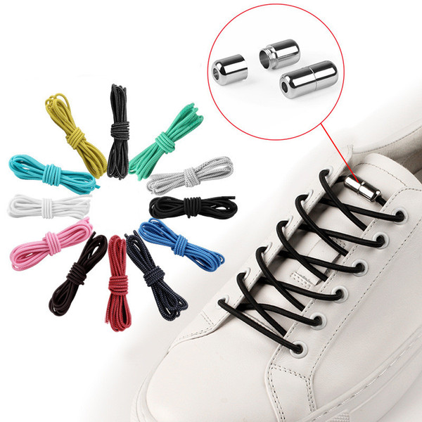 Elastic Locking Shoelaces No Tie Shoelace Kids Adult Sneakers Quick Round 100 cm Shoelaces Lazy Shoe Laces