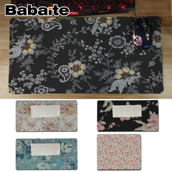 Babaite Bonito Anime Padrão de Flores Conforto Esteira Do Mouse Pad Gaming Mousepad Profissional Gaming Mousepad Mat Teclado