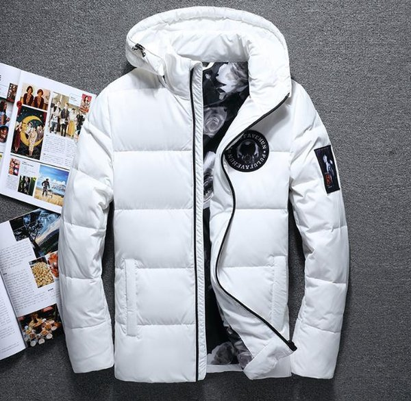 2019New mens épaisse capuche casual doudoune de luxe épaissir manteau en coton à capuche veste d'hiver chaud Casual Designer coupe-vent en plein air veste