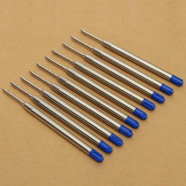 Blue Metal Pen Refill Kugelschreiber Minen Fine Point Medium Standard für Parker Style Ink 30PCS