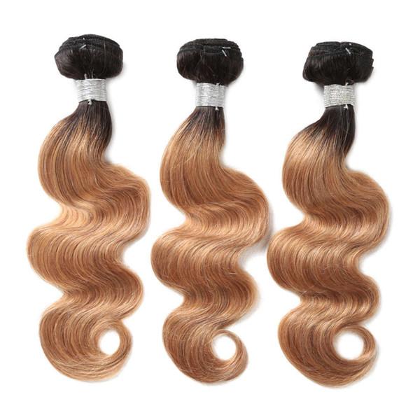 Moda Kadın Tam El dokuması Degrade Renk Gerçek Saç 16 Inç Uzun Kıvırcık Saç Vücut Dalga Saç Perde