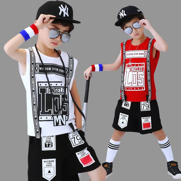 New 2019 Fashion Baby Girl Sleeveless 100% Cotton head Boy Clothes Head T-Shirt Pants Hip-hop Outfits 2 Pcs Clothing Set Baby Girl Clothes