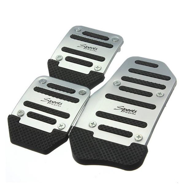 Venta grande Liquidación ÚLTIMO Almohadillas del pedal del coche Reposapiés Cubierta de la placa del embrague del freno de combustible para 3 piezas por juego