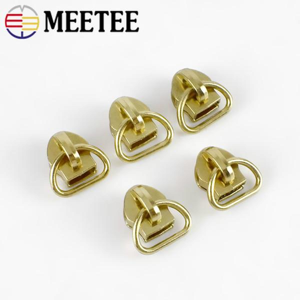 Meetee D Ring 5# Gold Nylon Zipper Head Zip Repair Kit Replacement Zipper Sliders For Bag Clothing Handwork Tailor Tools Sewing Accessories