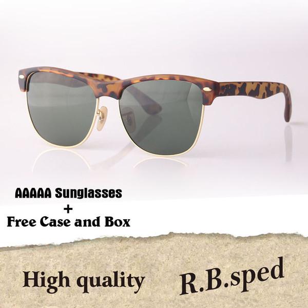 5A+ High Quality Brand Sunglasses men women brand designer Semi-Rimless frame UV400 Mirror glass lens Eyewear with box and all accessories