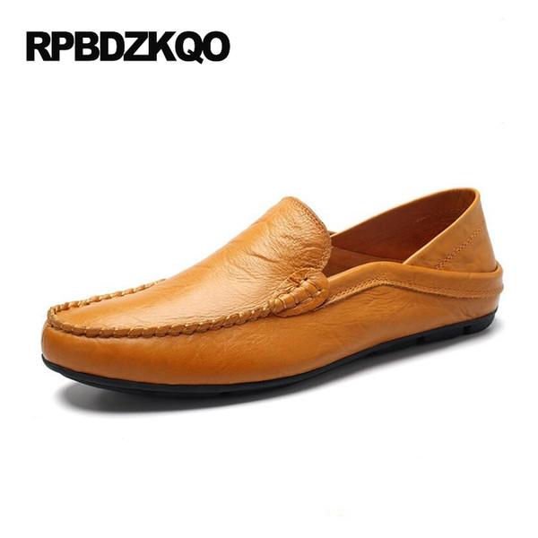 Comfort Driving Brown Slip On Morbido con la suola britannico stile 2017 primavera mocassini uomo scarpe casual in pelle mocassini vendita calda # 115877