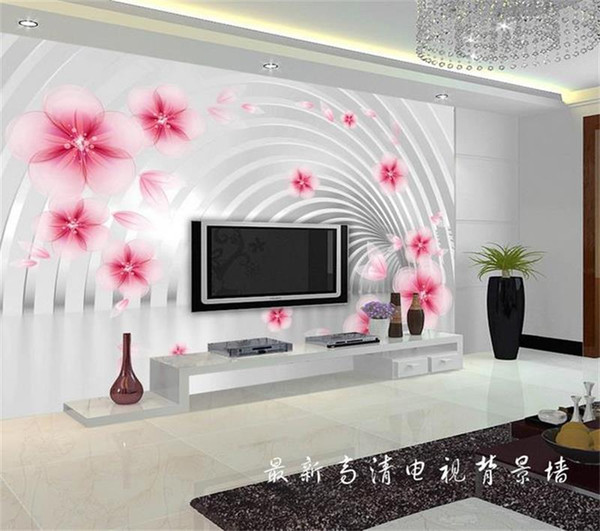 Sondergröße 3d fototapete wand wohnzimmer bett zimmer traum blume tunnel 3d bild sofa tv hintergrundbild wandbild vlies aufkleber