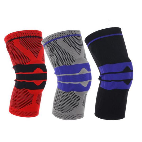 Para la persona gorda S-5XL Más tamaño Apoyo de baloncesto Rodilleras acolchadas de silicona Soporte Brace Patella Protector Protección Rodillera