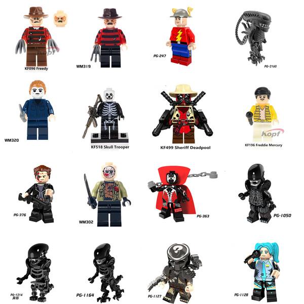 Novo Filme Figuras Brinquedos Blocos Alien vs Predator s figura do monstro gigante Technic Figuras Amigos tijolos tijolos Kids Brinquedos