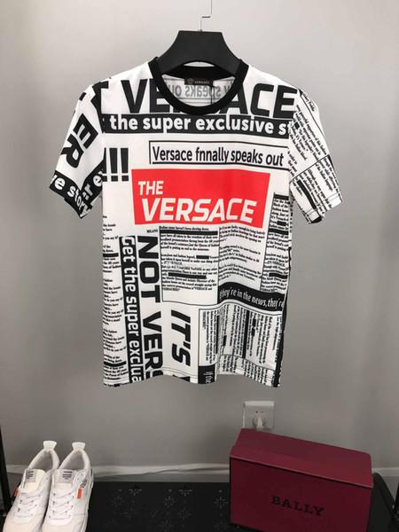 2019 popolare T-shirt da uomo Abbigliamento Top T-shirt Moda estate marea baffi stampato camicia casual da uomo M-3XL