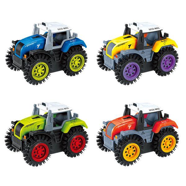 Enfants électrique Stunt Flip Toy Car Cartoon Cartoon Dump Truck en cas de barrière sur la volonté Flip Car