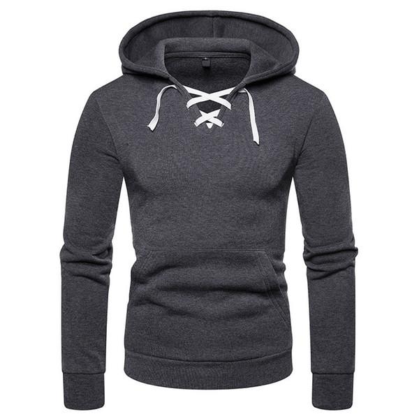 2018 Herbst Winter Männer Hoodies Mode Gürtel Design Kragen Sweatshirt Männlichen Hoody Trainingsanzug Hip Hop Herbst Winter Hoodie Mens