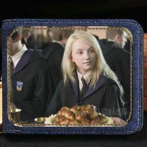 Luna Lovegood wallet Harry Potter cool purse The order of the phoenix short cash note case Money notecase Leather burse bag Card holders