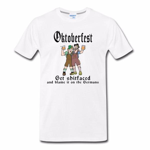 2019 Горячая распродажа футболка с коротким рукавом бренда Октоберфест Получить Shitfaced Цитата Лето Новая мода для футболки с коротким рукавом