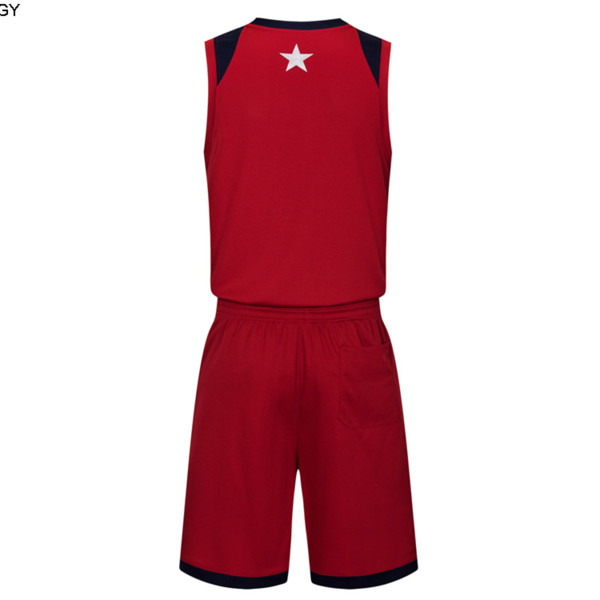 2019 New Blank Basketball jerseys printed logo Mens size S-XXL cheap price fast shipping good quality Dark Red DR004nhQ