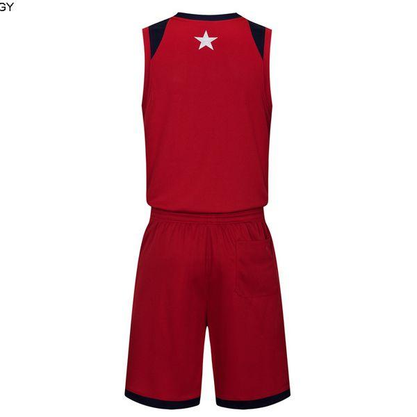 2019 Nouveaux maillots de basket-ball Blank logo imprimé taille Mens S-XXL Prix de pas cher expédition rapide de bonne qualité Dark Red DR004nhQ