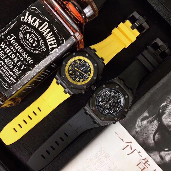 mens relógios populares de luxo A095 relógios de grife famosos movimento mecânico automático pulseira de borracha à prova d'água shell de aço areia octogonal