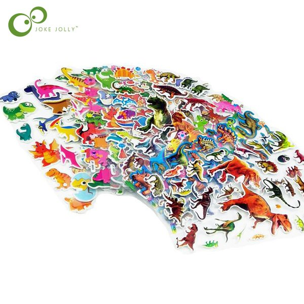 top popular 0 sheets lot Cartoon Stickers for Boy Kids Jurassic Dinosaur Sticker Early Learning Educational Toys for Children GYH 20 sheets lot Cart... 2019