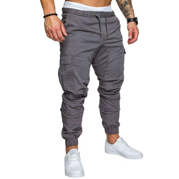Sonbahar Erkekler Pantolon Hip Hop Harem Joggers Pantolon 2019 Yeni Erkek Pantolon Erkek Joggers Katı Çok cep Eşofman M-4XL
