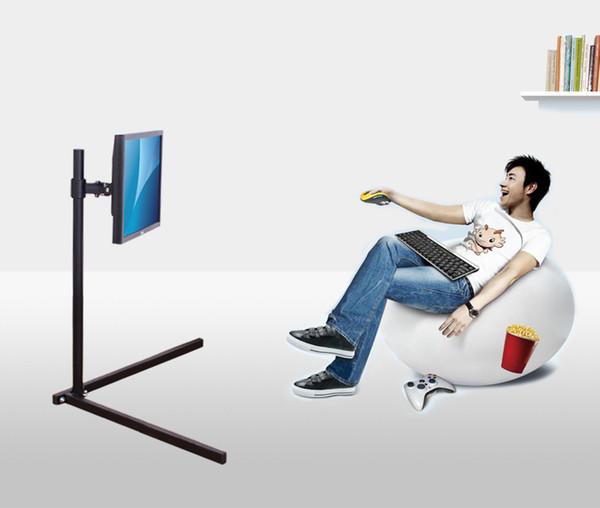 13 «-24» LCD LED TV Mount Rotary Rack Monitor держатель Напольная подставка Высота 100см Простая установка Легкий вес