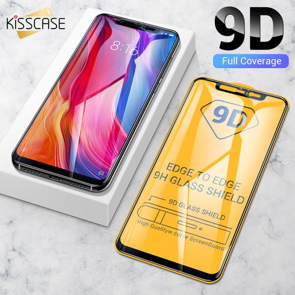 KISSCASE 9D Protector de pantalla de vidrio templado para Xiaomi Redmi Note 7 Pro 7 6 Pro 6 Vidrio protector para Xiaomi Mi 9 Se 9 8 Lite